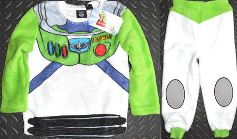 Boys Buzz Lightyear PJs Primark Pyjamas Toy Story Fleece Kids Ages 18M to 9 Year