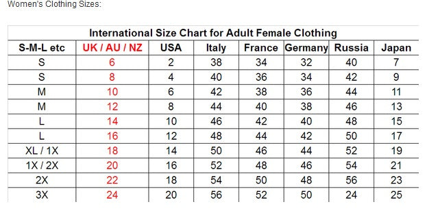Primark Sizes Chart Hobitfullring