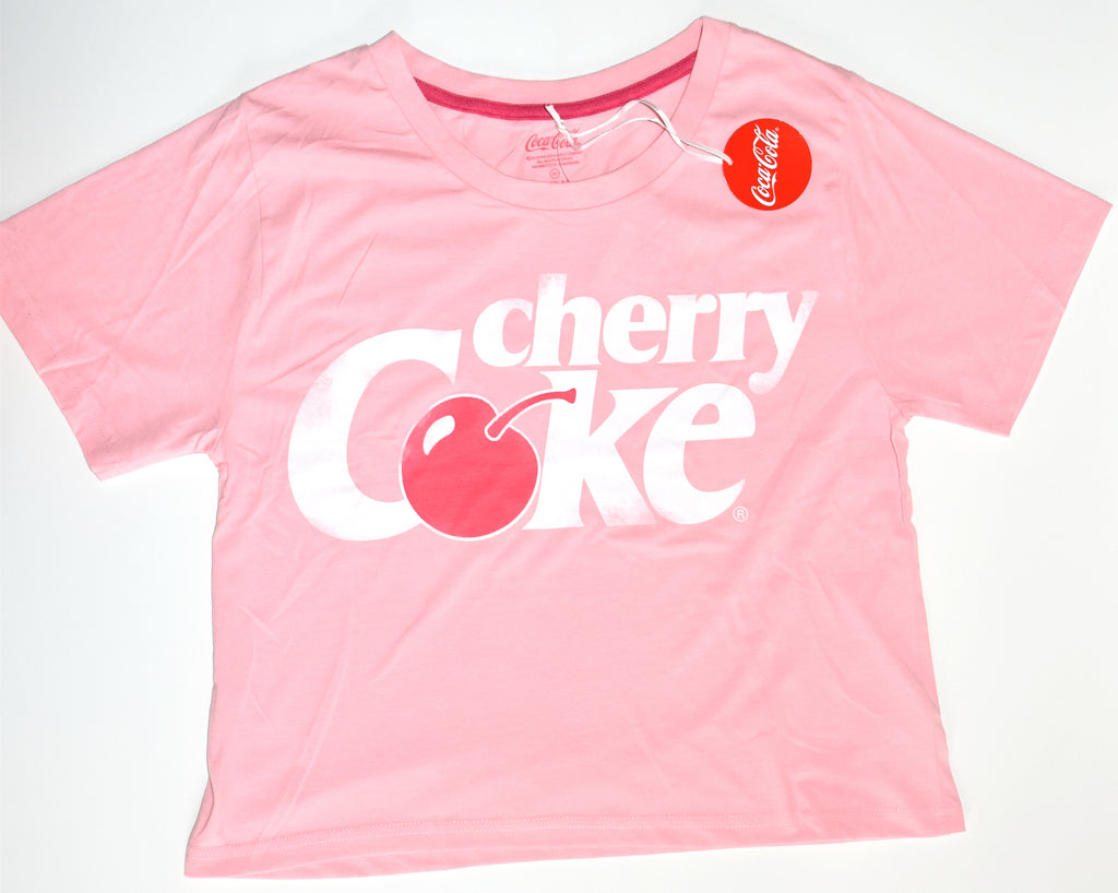 Cherry Coke T Shirt Primark Coca Cola Ladies Womens Pink UK Size 6 to 20