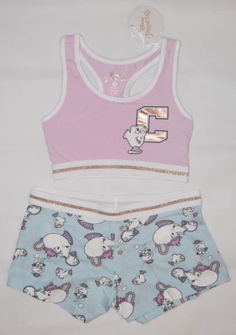 PRIMARK Disney Mrs Potts Chip Crop Vest & Shorts Set PJ PYJAMAS Sizes 4 - 20 NEW