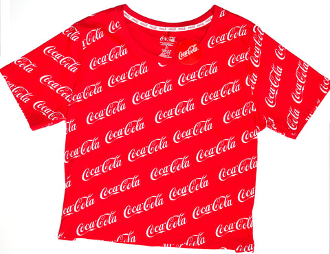 Coca Cola T Shirt Primark Coke Ladies Womens Red UK Sizs 12 to 20