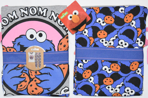 PRIMARK Cookie Monster PJ SESAME STREET Pyjamas Nom Nom Nom UK Sizes 6 - 20 NEW