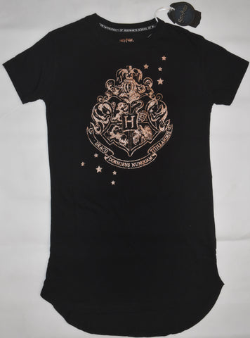 PRIMARK HOGWARTS CREST PJ NIGHTIE HARRY POTTER Black Gold UK Sizes 4 - 24 NEW