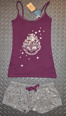 PRIMARK HOGWARTS Crest Vest & Shorts Set PJ PYJAMAS Harry Potter Size 14 to 16