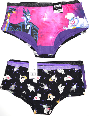 Disney Villains Knickers 2 Pack Panties Underwear Villan Ladies UK Sizes 8 to 20