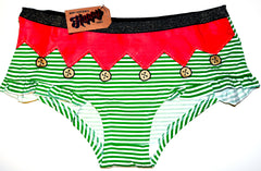 Sexy Elf Knickers Panties Stripe Christmas Underwear Women Ladies Size 10 to 20