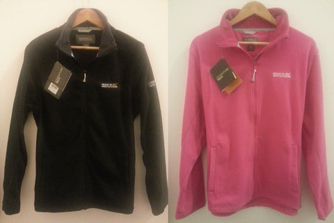 REGATTA FLEECE Full Zip Pink And Black Sizes 6-20 UK NEW - Click. Buy. Love.