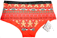 Friends Knickers Panties Christmas Xmas Central Perk Womens Ladies Sizes 6 to 22