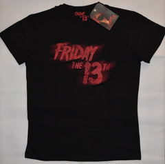 Primark Friday the 13th MENS T SHIRT Black Red Horror Film NEW UK Size XL