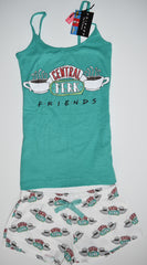 Central Perk PJ Set FRIENDS Pyjamas Primark Vest Shorts Womens Sizes 4 to 16