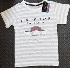 PRIMARK Central Perk T Shirt FRIENDS Womens TV Ladies Stripe UK Sizes 4 to 20