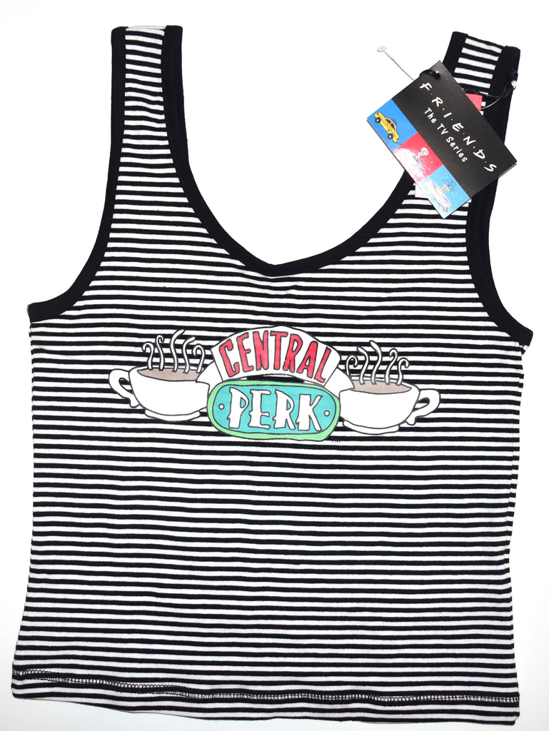 Friends Primark Crop Tie Top Central Perk Vest Tee Ladies Womens UK Size 6 to 16
