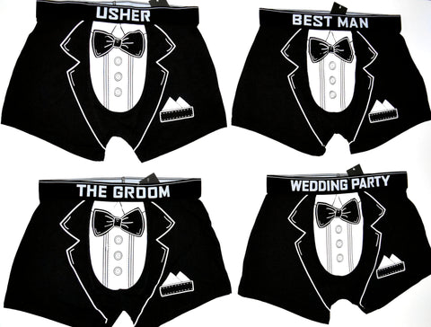 Men's Underwear Groom Best Man Usher Stag Bachelor Wedding Party Sizes M to XXL