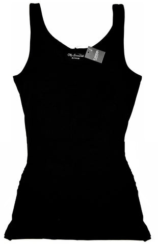 George Vest Top Ladies Girls Long Cami Dress Stretch Strap Black Size 10 to 20