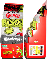 Grinch Socks Primark Christmas Dr Seuss Mens 5 Pack UK Sizes 6 to 8 or 9 to 12