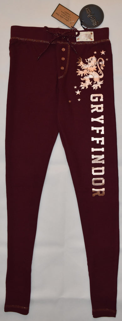 PRIMARK HARRY POTTER PJ Bottoms Gryffindor HOGWARTS Burgundy Waffle Sizes 4 - 20