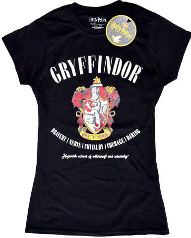 HARRY POTTER PRIMARK T-Shirt GRYFFINDOR Style HOGWARTS Ladies UK Sizes 4 - 20