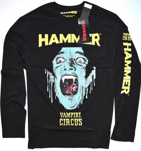 Hammer Horror T Shirt Mens Vampire Circus Tee Black Halloween Goth UK M to XXXL