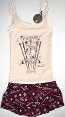 Harry Potter PJ Set Disney Pyjamas Primark Vest Shorts Womens UK Sizes 10 to 16