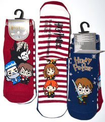 Harry Potter Socks Primark Chibi Shoe Liners Trainer Sock 3 Pack UK Size 4 to 8