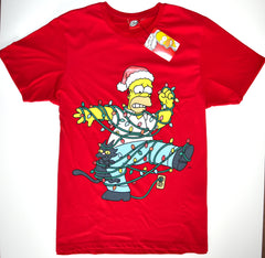 Homer Simpson T Shirt Primark Christmas Tee 100% Cotton Mens UK Sizes L to XXL