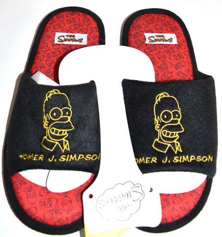 Homer Simpsons Slippers Primark Mens Slip On Sliders UK Sizes 8 - 13 New