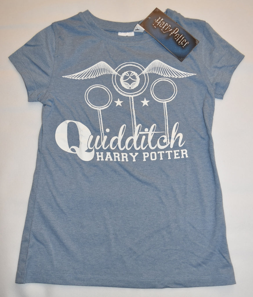 Primark HARRY POTTER T Shirt Womens Ladies Quidditch Blue UK Sizes 4-20 NEW