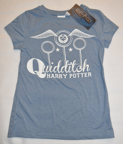 Primark HARRY POTTER T Shirt Womens Ladies Quidditch Blue UK Sizes 4-20 NEW 59d434c30
