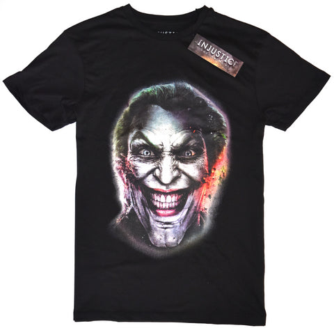 Joker T Shirt Primark Batman 100% Cotton Black Mens UK Sizes M to XXL