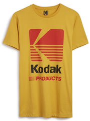 KODAK T SHIRT MENS PRIMARK YELLOW 100% COTTON UK RARE Sizes M - XXXL