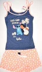 Lilo and Stitch PJ Set Disney Pyjamas Primark Vest Shorts Womens Sizes 10 to 16