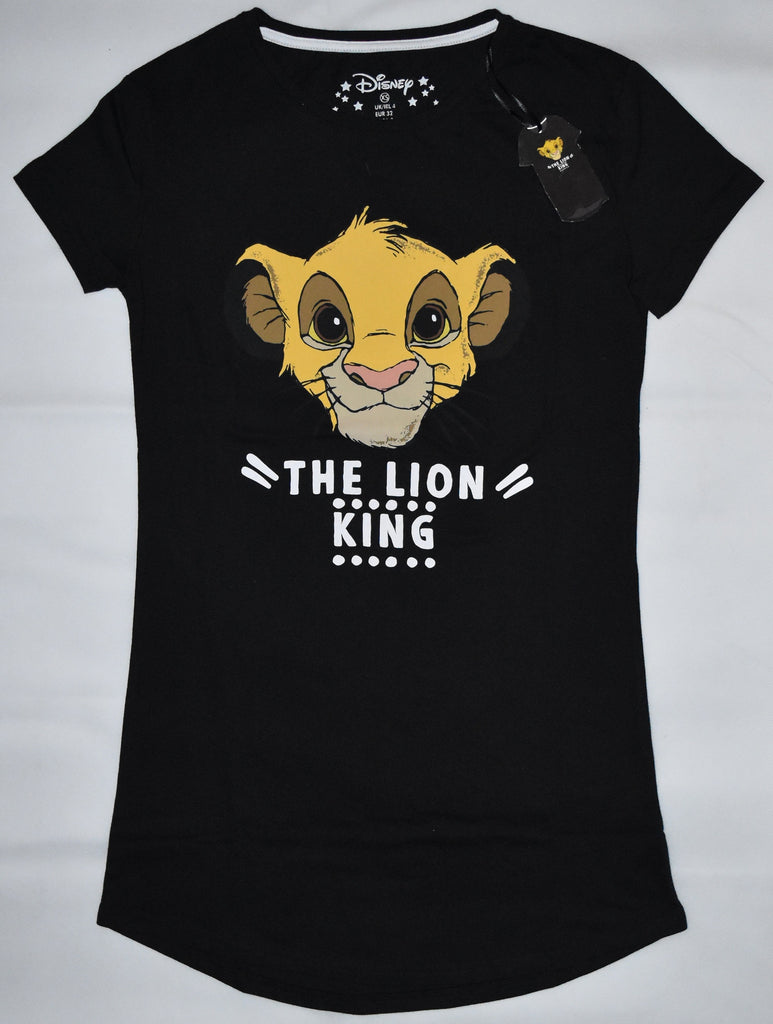 PRIMARK Lion King PJ NIGHTIE Disney Simba Black UK Sizes 4 - 20 NEW