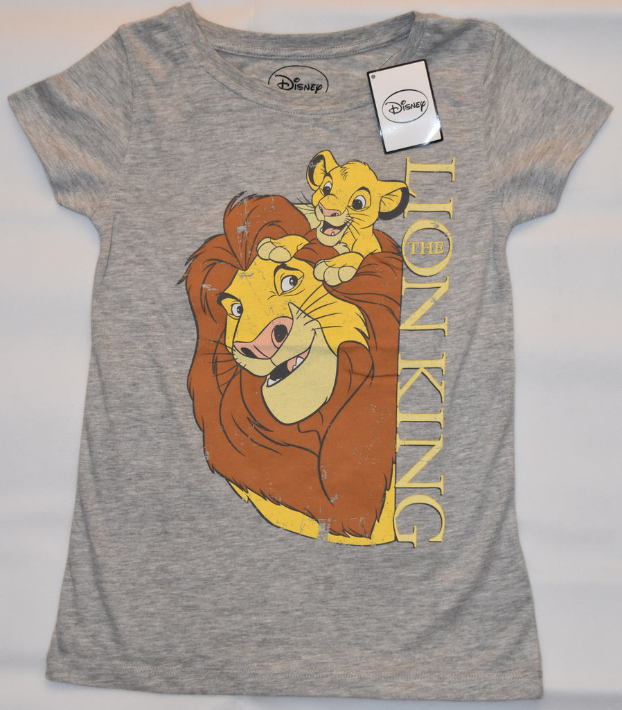Primark Lion King T Shirt Simba Mufasa Disney Womens Ladies GREY Size 4-20 NEW