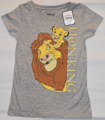 Primark Lion King T Shirt Simba Mufasa Disney Womens Ladies GREY Size 4