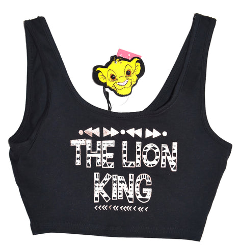 Lion King Crop Top Disney Vest Primark Tee Ladies Womens UK Size 6 to 16