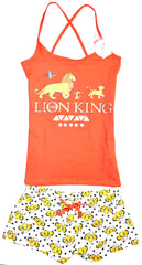 Lion King Disney PJ Set Pyjamas Primark Vest Shorts Cross Back Womens UK 6 to 20