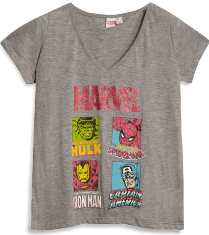 Primark Marvel Women's T Shirt DC Comic HULK SPIDER IRON CA UK 6 - 20