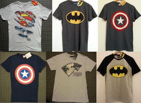 Primark T Shirt Captain America Superman Batman Game of Thrones Men's Marvel GoT - Click. Buy. Love. - 1