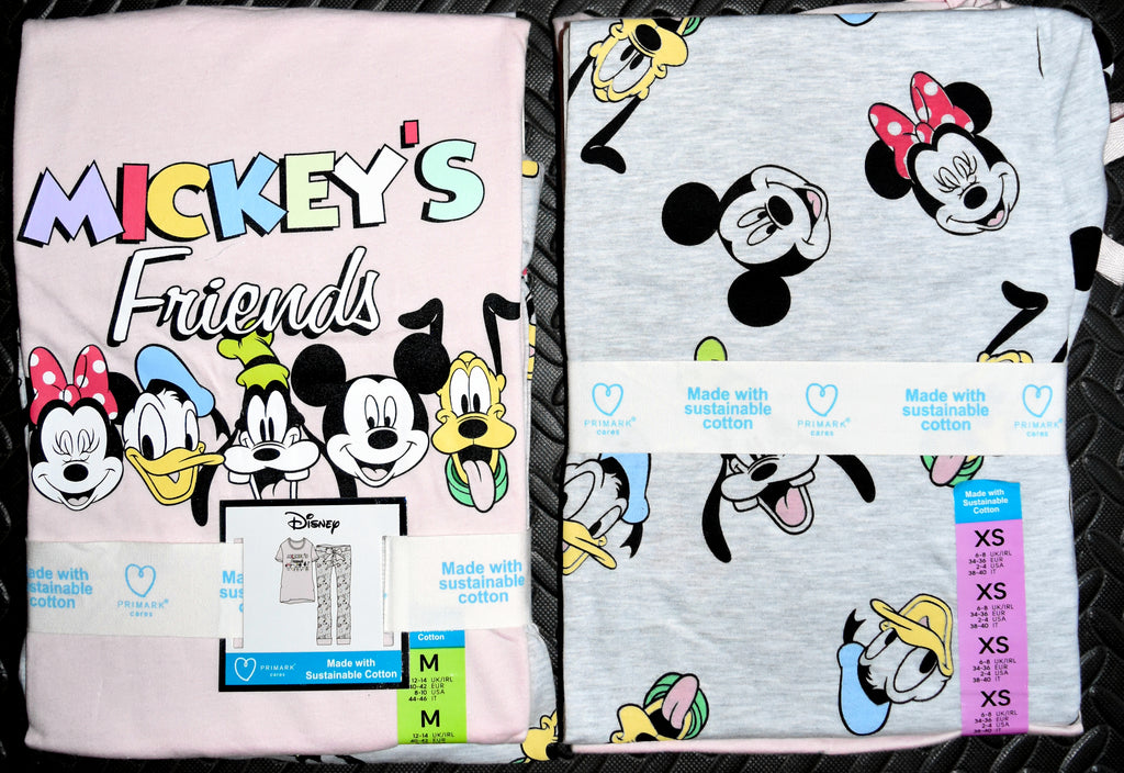 Mickey Mouse PJ Set Disney Friends Primark Womens Pyjamas Pijamas Sizes 6 to 16