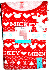 Mickey Mouse PJ Set Disney Primark Womens Xmas Pyjamas Pijamas UK Sizes 6 to 20