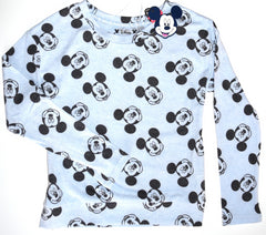 Mickey Mouse T Shirt Primark Disney Sweater Long Sleeve Thin fleece Size 6 to 16