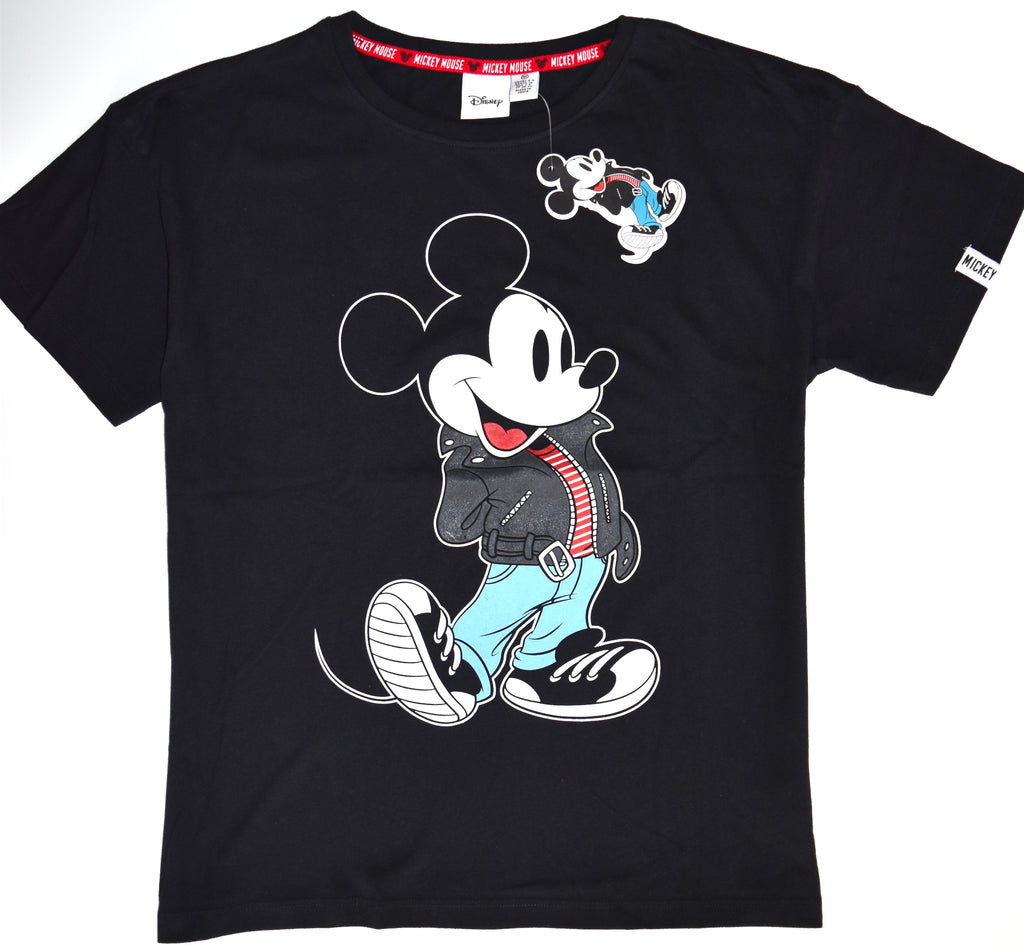 Mickey Mouse T Shirt Primark Disney 100% Cotton Biker Ladies Womens Size 6 to 20