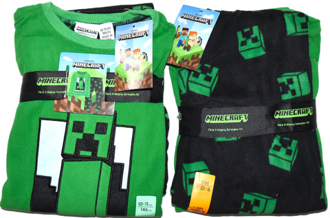 Minecraft PJs Primark Pyjamas Fleece Childrens Kids Teens Pijamas 6 to 12 Years