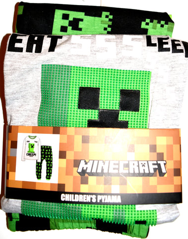 Minecraft PJs Primark Boys Teens Teenager Long Pyjamas Kids Ages 7 - 15 Years