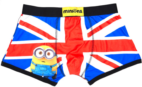 Minions Pants Mens UK Flag British Union Jack Boxers Underwear UK Size Medium