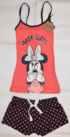 PRIMARK Disney Minnie Mouse Vest & Shorts Set PJ PYJAMAS UK Sizes 4