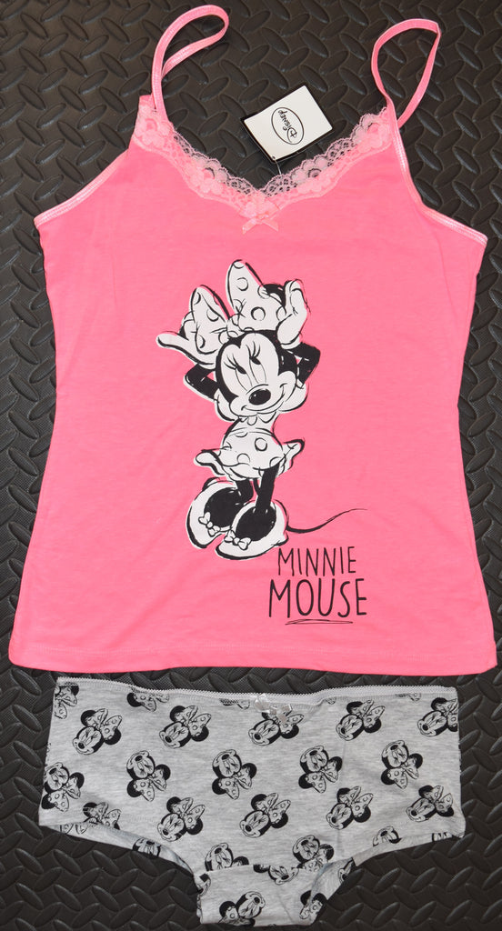 PRIMARK Minnie Mouse PJ DISNEY Vest & Knickers Panties Womens UK Size 10 - 12