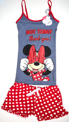 Minnie Mouse PJ Set Disney Pyjamas Primark Vest Shorts Womens UK Sizes 12 to 20