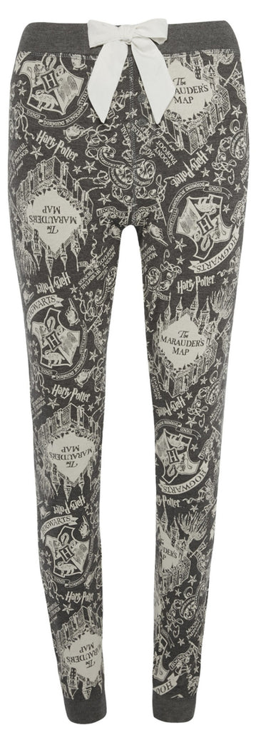 MARAUDERS MAP PRIMARK HOGWARTS HARRY POTTER PJ Bottoms Sizes 4 - 20