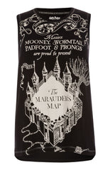 MARAUDERS MAP PRIMARK Vest T-SHIRT HARRY POTTER sizes 10 to 12